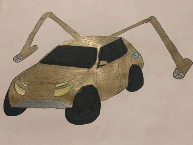 Praca konkursowa Stelli - samochód przyszłości